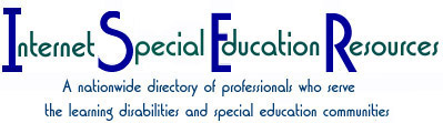 ISER Logo: A nationwide directory of professionals who serve the learning disabilities and special education communities